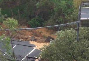 Viadotto A6 fotografato dall'alto dopo il crollo
