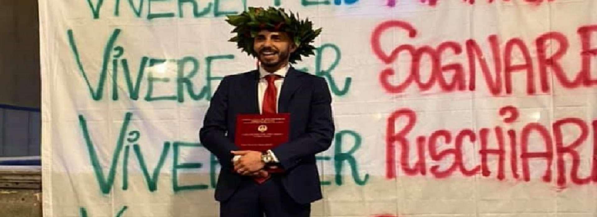 Daniel Zaccaro e la sua laurea
