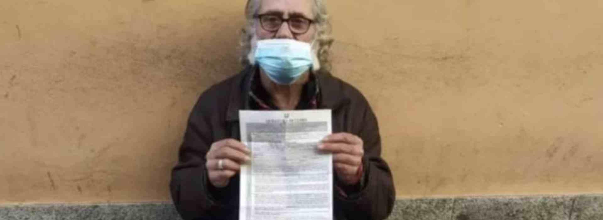 400 euro di multa a un senzatetto: lontano dal domicilio durante il lockdown